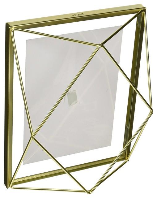 Umbra Prisma Picture Frame, Matte Brass, 5\