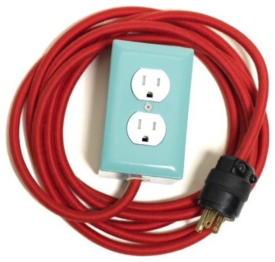 12 Ext_ +2, Mint - Modern - Extension Cords And Power Strips - by Conway Electric