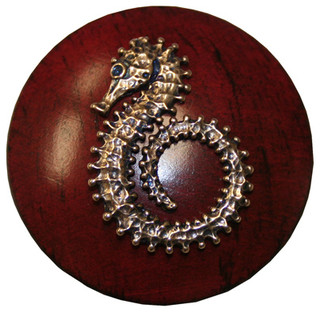 """Sea Horse Drawer Knob, 1.75"""" - Beach Style - Cabinet And Drawer Knobs - by Bibi's Baby & Kids"""