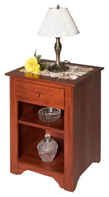 End Tables Bedroom Cherry Stain Birch Shaker End Table Living Room by Renovator's Supply