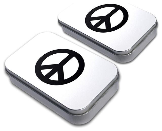 Peace Sign Tin Set contemporary-decorative-boxes