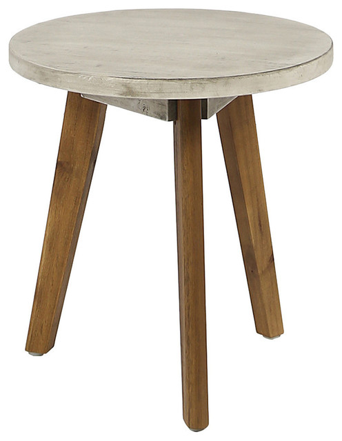 Gdf Studio Candance Farmhouse Style Outdoor Acacia Wood Side Table Transitional Tables By Gdfstudio