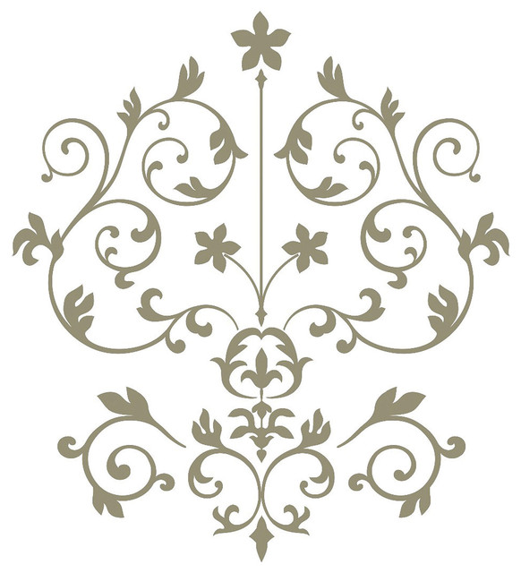 Delicieux Nouveau Damask Wall Art Decal Kit Contemporary Wall Decals