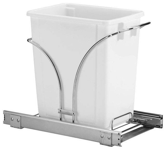 Household Essentials - Glidez 5-Gallon Pull-Out Trash Can & Reviews | Houzz
