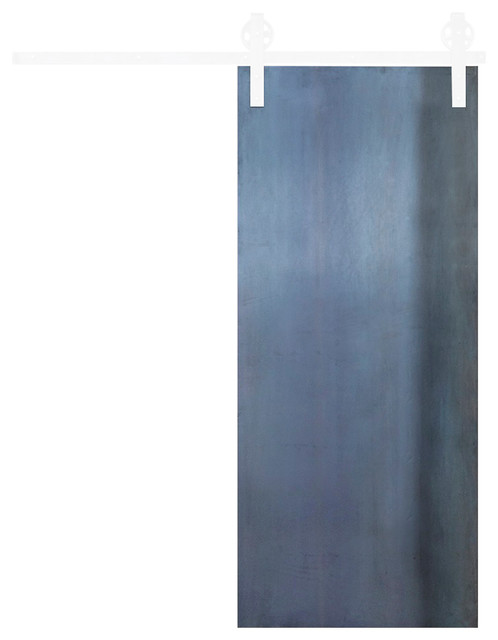 "Industrial Panel Barn Door, 84""x36""."