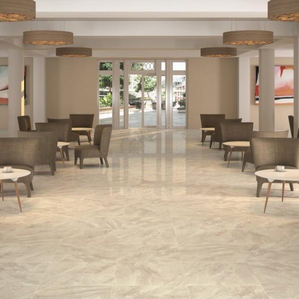Nairobi 1 High Gloss Floor Tiles Cream Porcelain