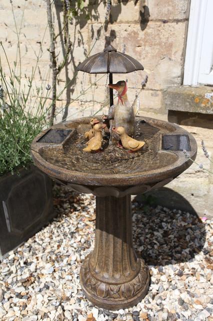 Smart Garden Umbrella Duck Family Fountain Solar Water Feature