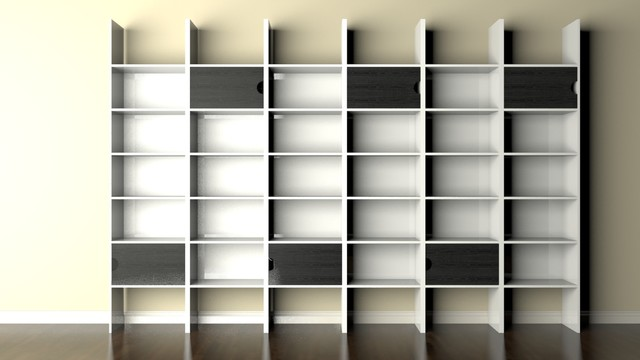 Modern Bookcase , Modern Wall Unit Modern