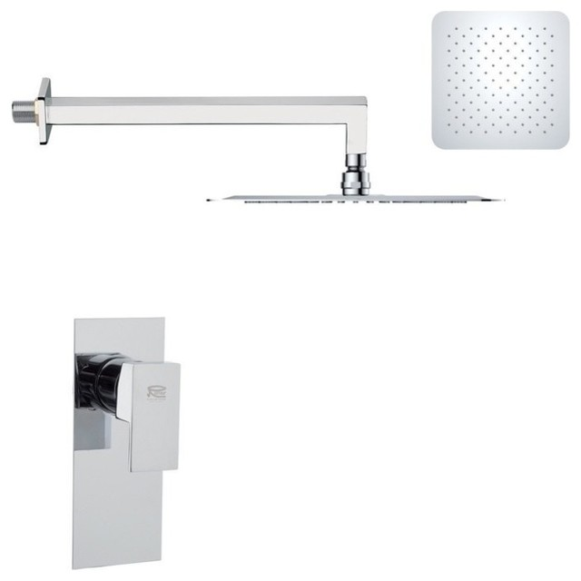 Modern Polished Chrome Shower Faucet Set Modern Tub And Shower Faucet Set