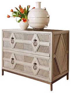 Ambella Home Collection Diamond 2-Drawer Cabinet
