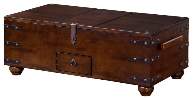 Santa Fe Trunk Coffee Table industrial-coffee-tables
