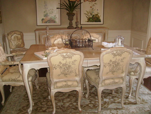reglazing dark over light on antique dining room table/chairs & buffet