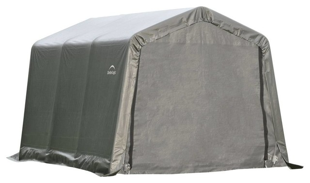 8&x27;x12&x27;x8&x27; Peak Style Shelter, Gray Cover.
