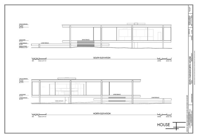 Fascinating Farnsworth House Floor Plan Dimensions