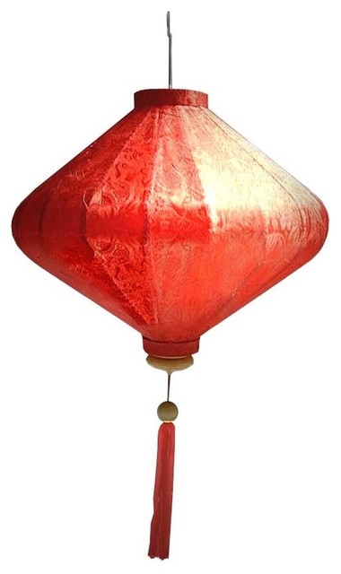 Silk Lantern Vietnamese Diamond Lamp Red 27 13 Lighting Kit
