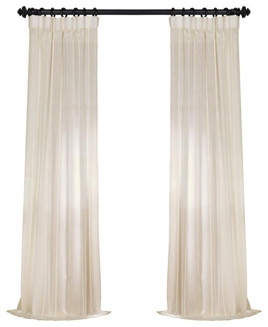 Riley Window Curtain Single, White