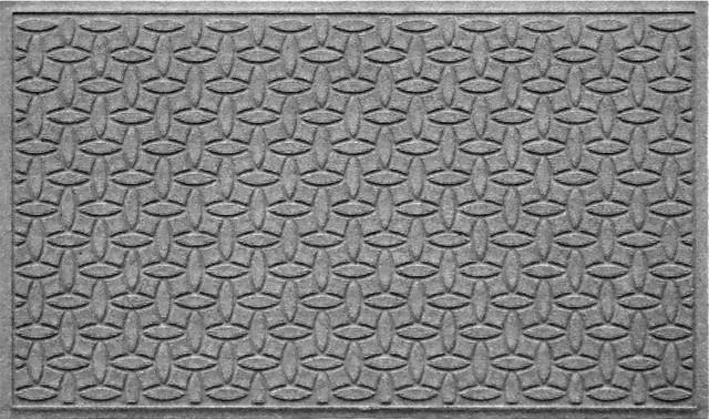3u0027x5u0027 Heavy Duty Doormat, Ellipse, Medium Gray