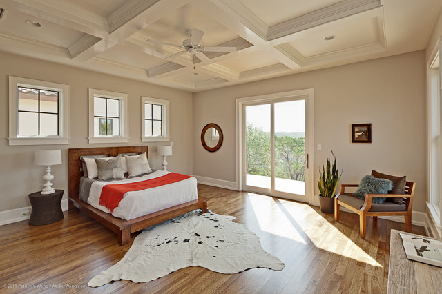 Hill Country Contemporary transitional-bedroom