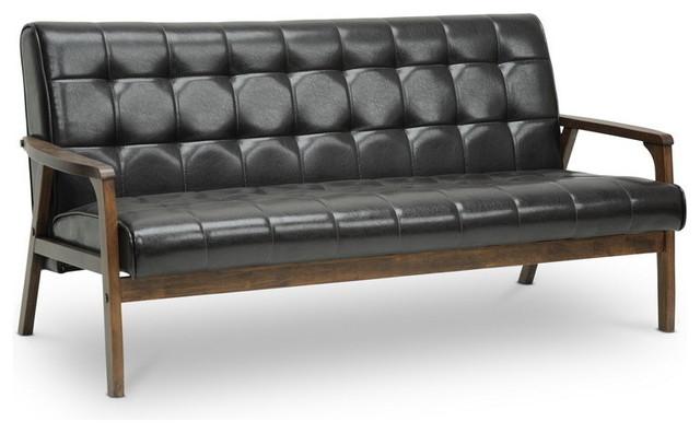Baxton Studio Mid-Century Masterpieces Sofa, Brown.