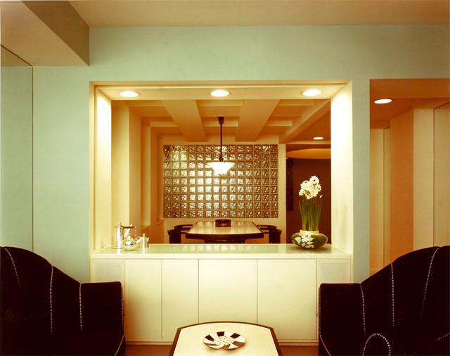 art deco living room dining room modern