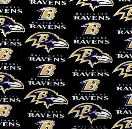 Baltimore Ravens Cotton Print Fabric Contemporary