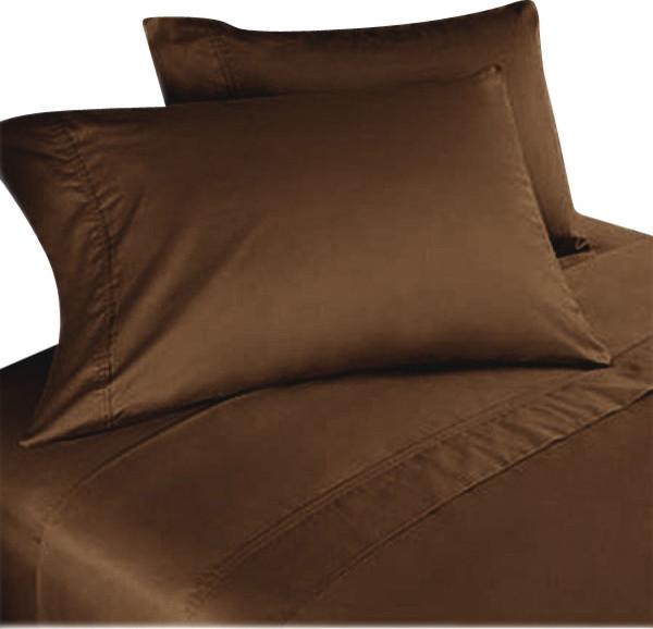 1000tc egyptian cotton sheet set queen chocolate