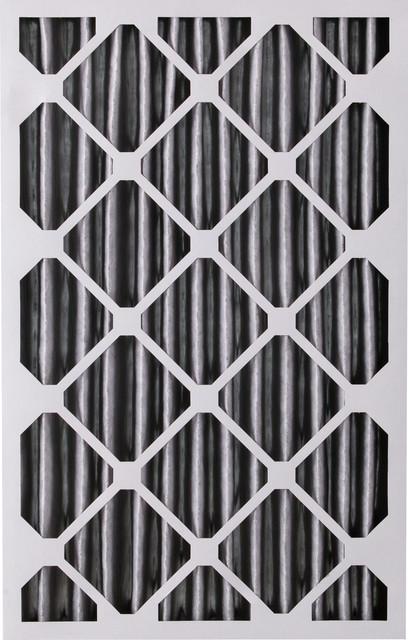 16x25x4 Pleated Merv 12 Plus Carbon Ac Furnace Filters, Qty 2.