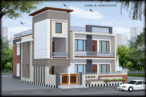 Front Elevation Design For Individual House : Front elevation