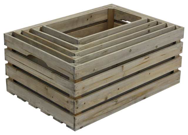 5PK Nested Crate Set Weathered