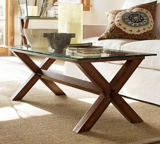 Ava Wood Amp Glass Rectangular Coffee Table Espresso Stain