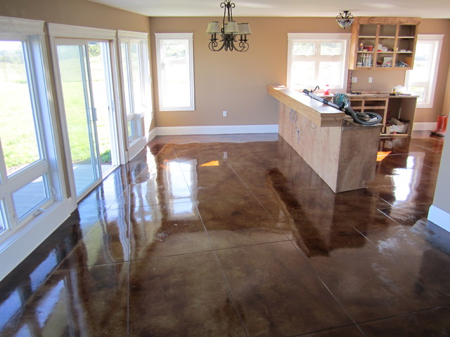 Stained Concrete Floors Contemporary Other By