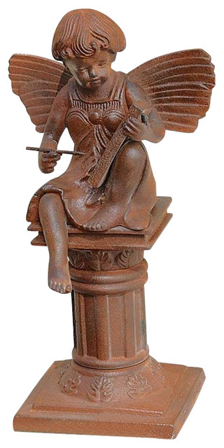 Reading fairy of the humanities sculpture traditional Reading fairy garden statue