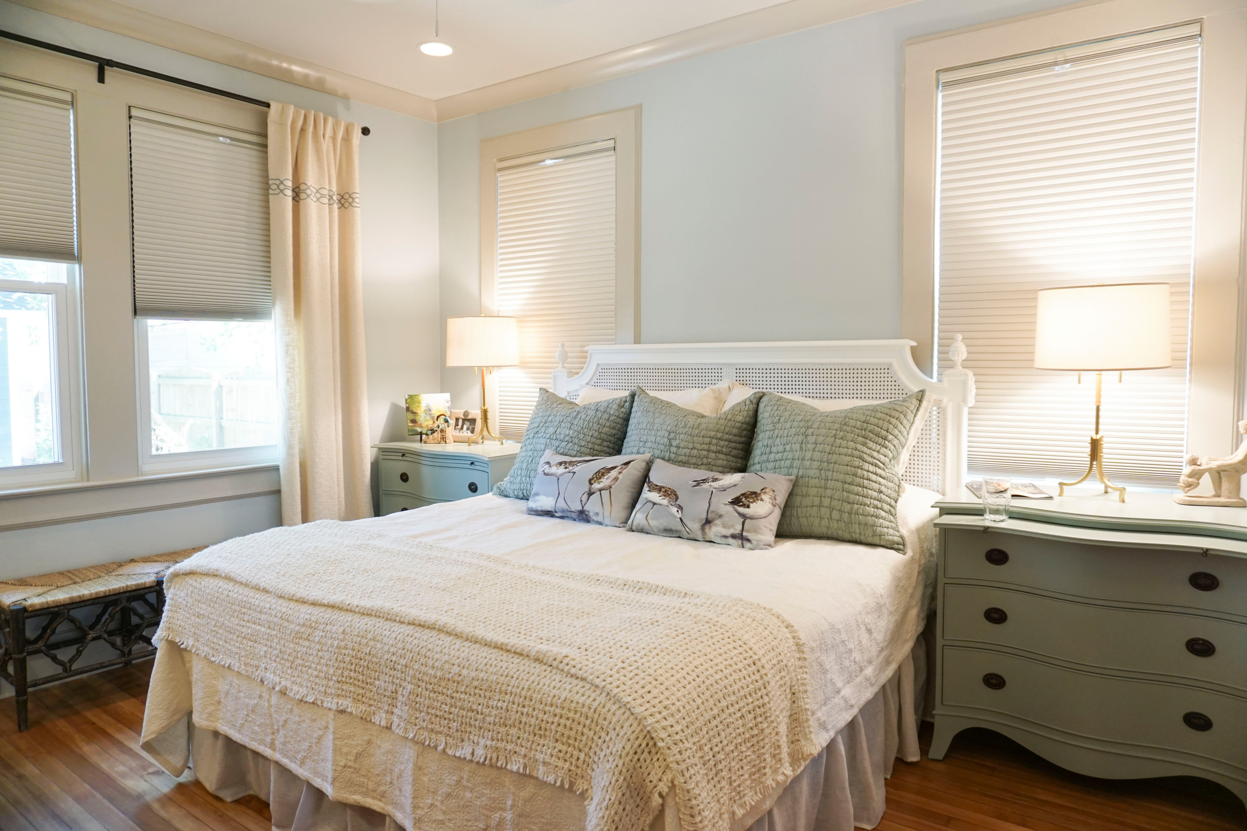 Matching bedside chests with king size bed