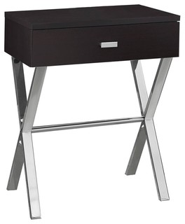 Chrome Metal Accent Table   Contemporary   Side Tables And End Tables   By  Monarch Specialties
