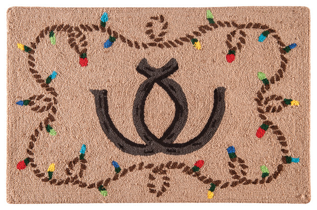 Holiday Rodeo Hooked Rug Contemporary Area Rugs By C