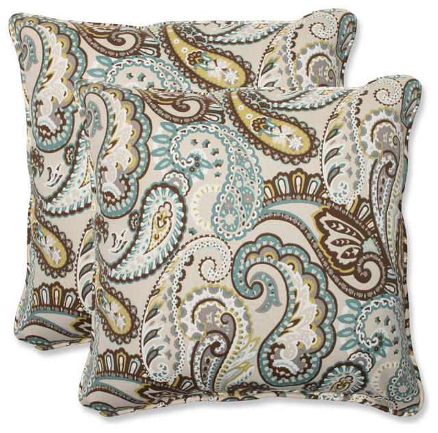 "Tamara Paisley Quartz 18.5"" Throw Pillow, Set of 2"