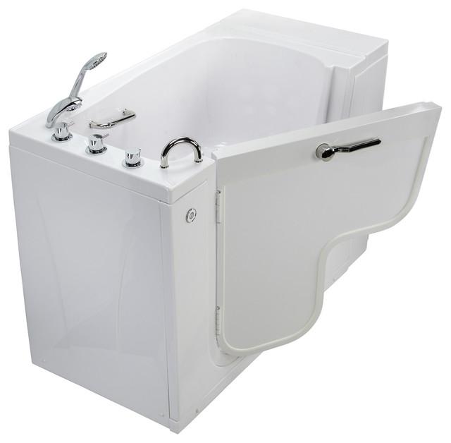 Transfer 32 Acrylic Soaking Walk-In Bathtub Left Outward Swing Door.