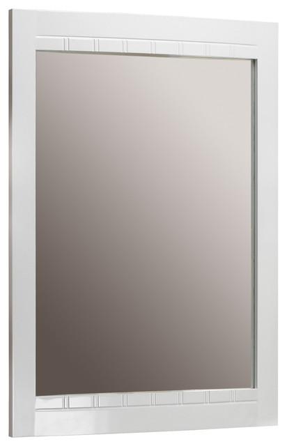 Clara Wall Mirror, White.