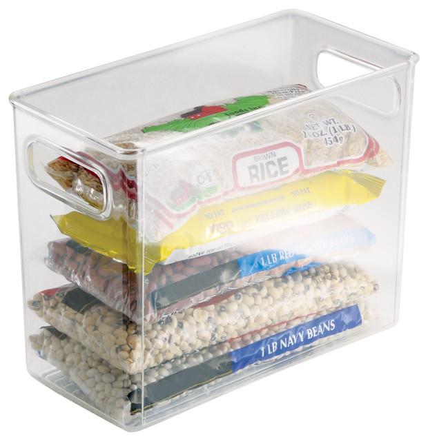 InterDesign Clear Linus Storage Bin Contemporary Storage Bins And Boxes