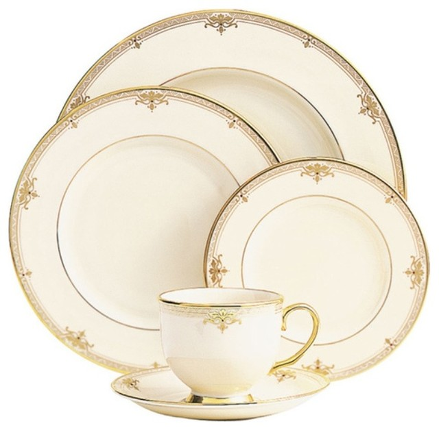 Lenox Republic 5-Piece China Setting, Set of 8 - Traditional ...