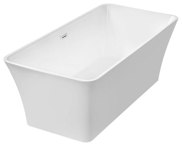 Woodbridge 67 39 39 modern bathroom freestanding bathtub contemporary bathtubs by woodbridge for Woodbridge 54 modern bathroom freestanding bathtub