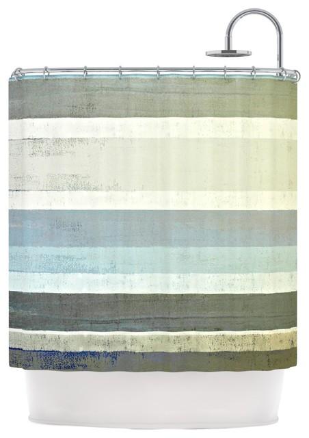 CarolLynn Tice No Limits Teal Brown Shower Curtain