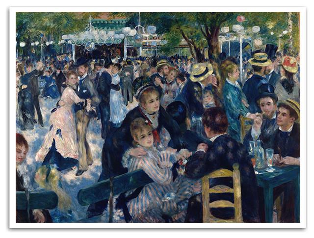 """Bal Du Moulin De La Galette, Pierre-Auguste Renoir, Paintings, 24""""x18"""" Poster"""