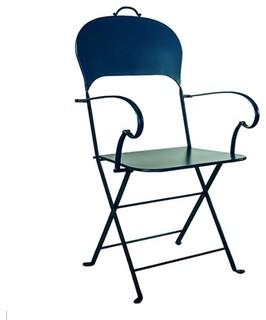 Lispi & Co. Sissi Folding Chair, Petroleum Blue