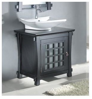 Great Light Grey Tile Bathroom Floor Thick Bathroom Drawer Base Cabinets Rectangular Bath Vanities New Jersey Glass For Bathtub Shower Youthful Install A Bathroom Fan Without Attic Access RedPremier Walk In Bath Reviews 30 In. Solid Wood Vanity Cabinet W Ceramic Sink Bowl   Asian ..