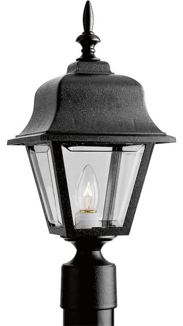 Progress Lighting P5456-31 1 Light Outdoor Post Light In Black.