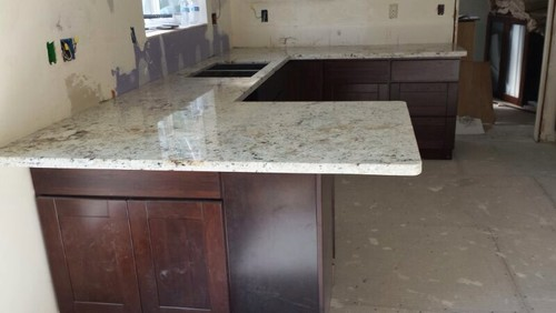 Kitchen granite overhang question for How to support granite countertop overhang