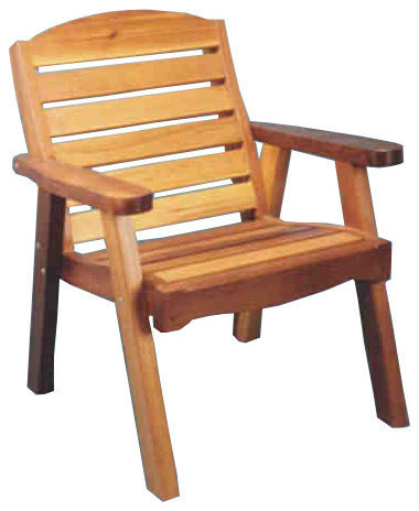 Red Cedar Deck Chair Traditional Outdoor Lounge Chairs