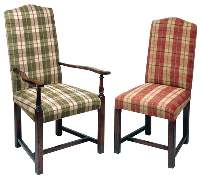 Traditional Upholstered Dining Chairs ~ Elizabethan upholstered dining chair traditional