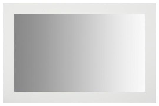 "Pendleton White Framed Mirror, 36""x60""."